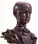 P. Claudel à 13 ans, Buste de Camille Claudel