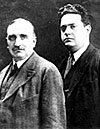 Paul Claudel et Darius Milhaud, Rio, 1917