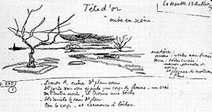 Manuscrit de Paul Claudel